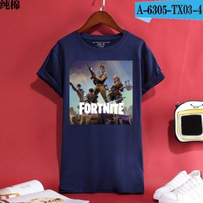 Fortnite フォートナイト ロゴ デザイン 綿100%  Tシャツ トップス  ユニセックス メンズ レディース  14