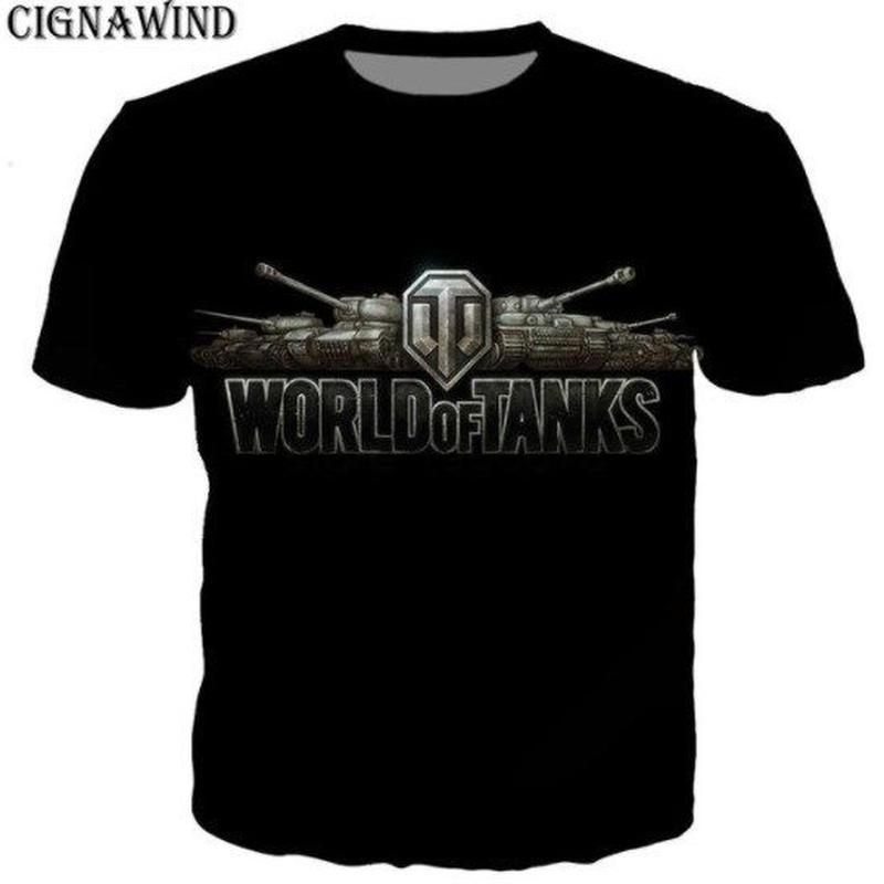 World of Tanks ワールドオブタンクス WoT 3Dデザイン Tシャツ 半袖  ユニセックス ゲームグッズ  WoTグッズ  4