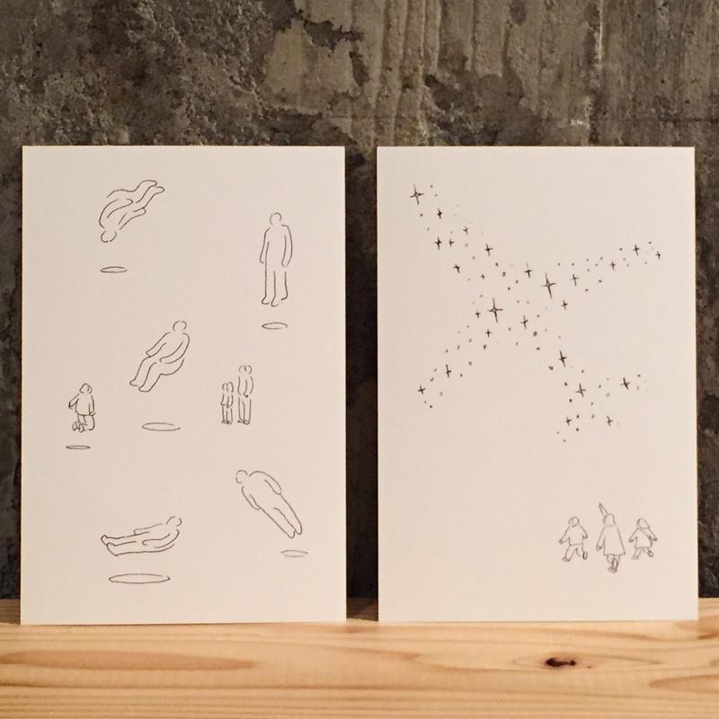 Yasuhiro Suzuki | ポストカード「空気の人」「出発の星座」