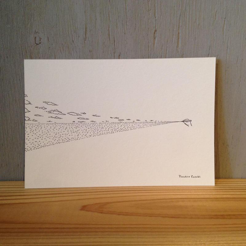 Yasuhiro Suzuki | ポストカード 水平線を描く鉛筆