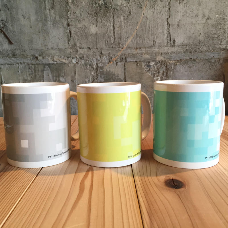 THE ACE SHOP | Pixcel Mug designed by Morvan Guenier