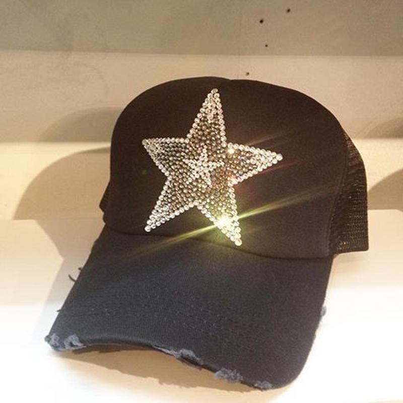 NIAC original star ダメージメッシュCAP ネイビー