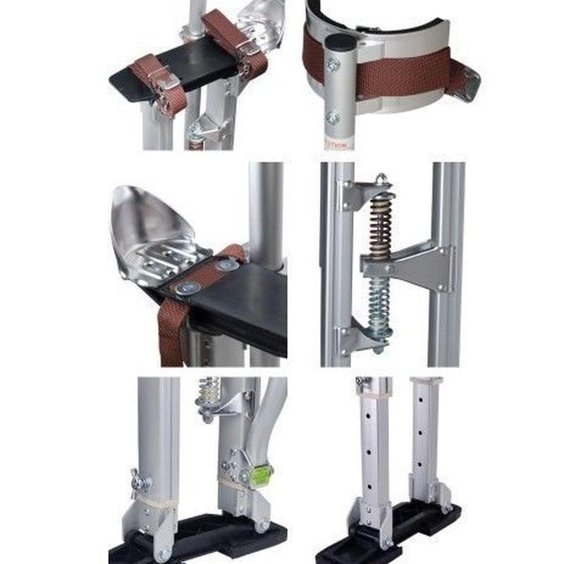 シルバー プロフェッショナル グレード 調節可能な 乾式壁竹馬 テーピング ペイント 竹馬 アルミ 24