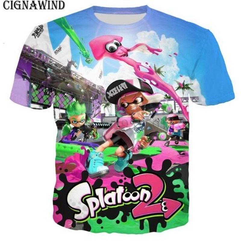 スプラトゥーン tシャツ 3Dデザイン Tシャツ 半袖 ユニセックス