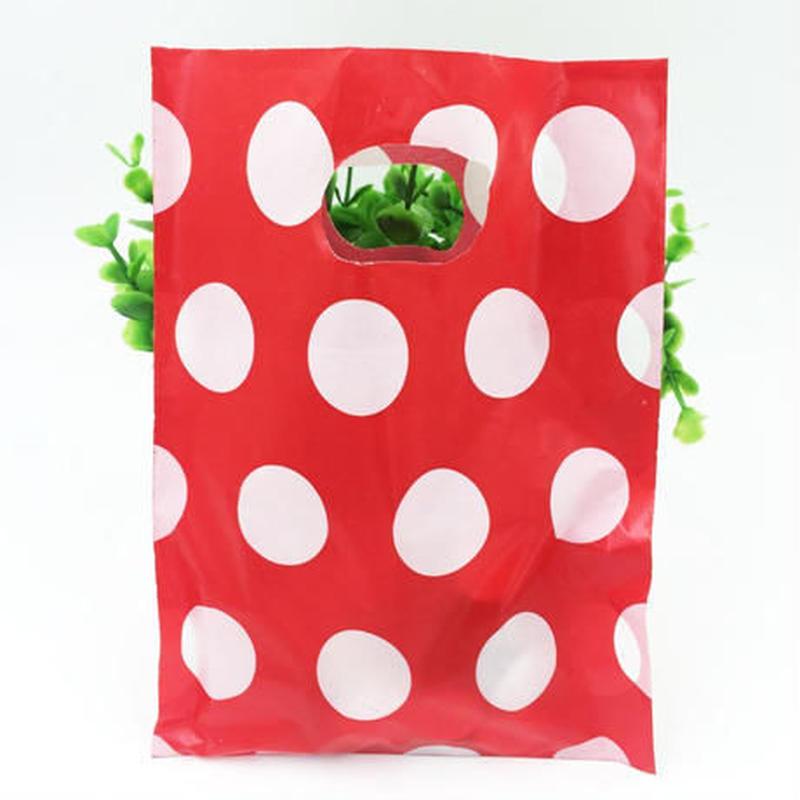 新品送料込 ギフトバッグ 手提げ袋 100枚セット 水玉 ドット バレンタイン お誕生日会 結婚式 ラッピング プレゼント