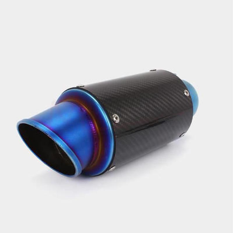 カーボン製 超軽量! 60.5π スリップオン サイレンサー / 汎用 マフラー / cb400sf cb400sb xjr400r zrx400 ホーネット250 etc