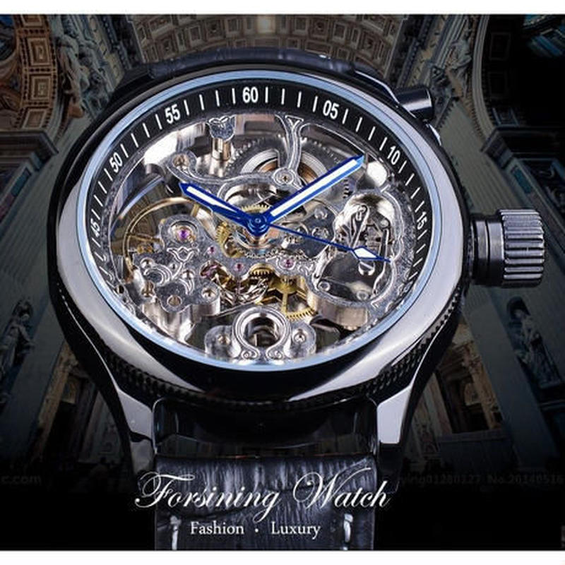 FORSINING スケルトン時計 トゥルービヨン 機械式時計