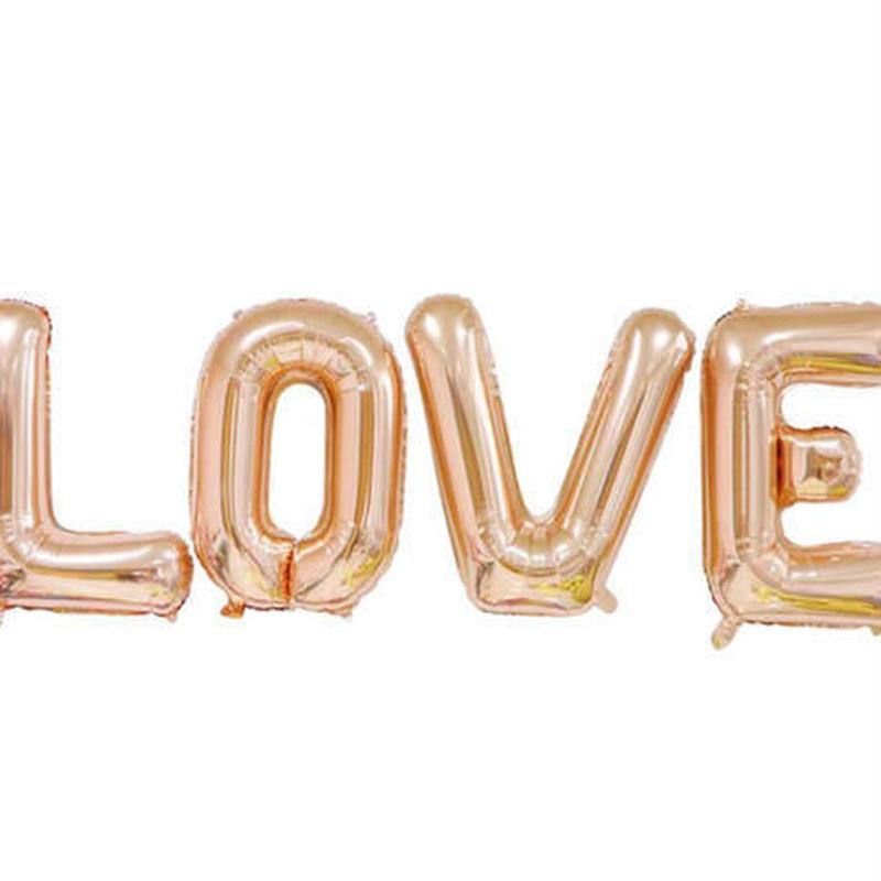 """ロゴ風船 """"LOVE"""" ラブ アルミカラー 30インチ 飾り デコレーション 誕生日 結婚式 イベント パーティ バルーン"""