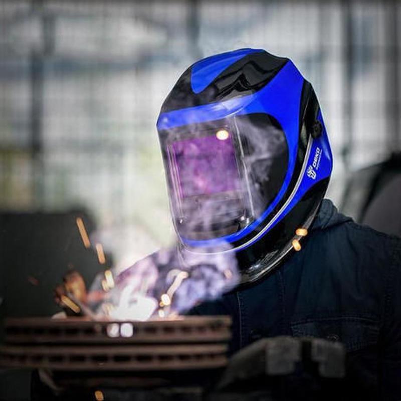 自動遮光液晶溶接面 自動感光式溶接マスク 特大スーパー自動フィルター ワイドビュータイプ 遮光速度.00003秒 ソーラー充電式