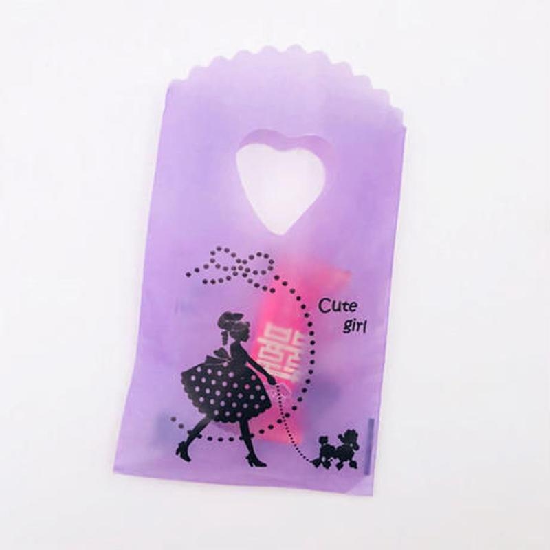 新品送料込 ギフトバッグ 手提げ袋 250枚セット 9×15cm 紫 ハート バレンタイン お誕生日会 結婚式 ラッピング プレゼント