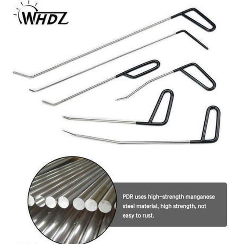 自動車無塗装デント修理ツールキット 凹み リムーバー PDR Pods Tools 金属 タップダウン ロッド