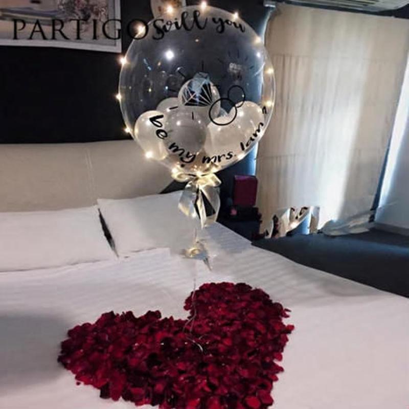風船 ヘリウム LED イルミネーション 18インチ 飾り デコレーション 誕生日 結婚式 卒業 パーティ バルーン