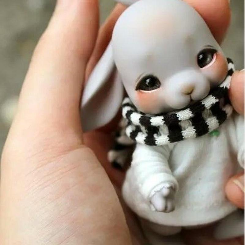 球体関節人形 BJD 本体+眼球+メイクアップ済 1/12 トビー