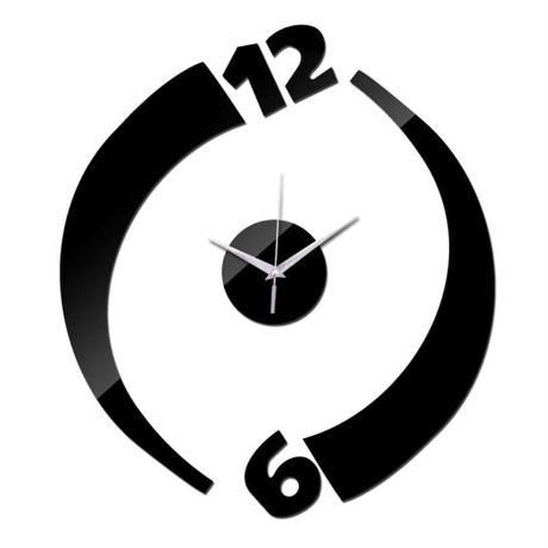 新品送料込★ 時計 壁掛け 3D 鏡 ミラー デザイナーズ ヨーロッパ 北欧モダン DIY お洒落 面白 輸入雑貨 インテリア 高性能