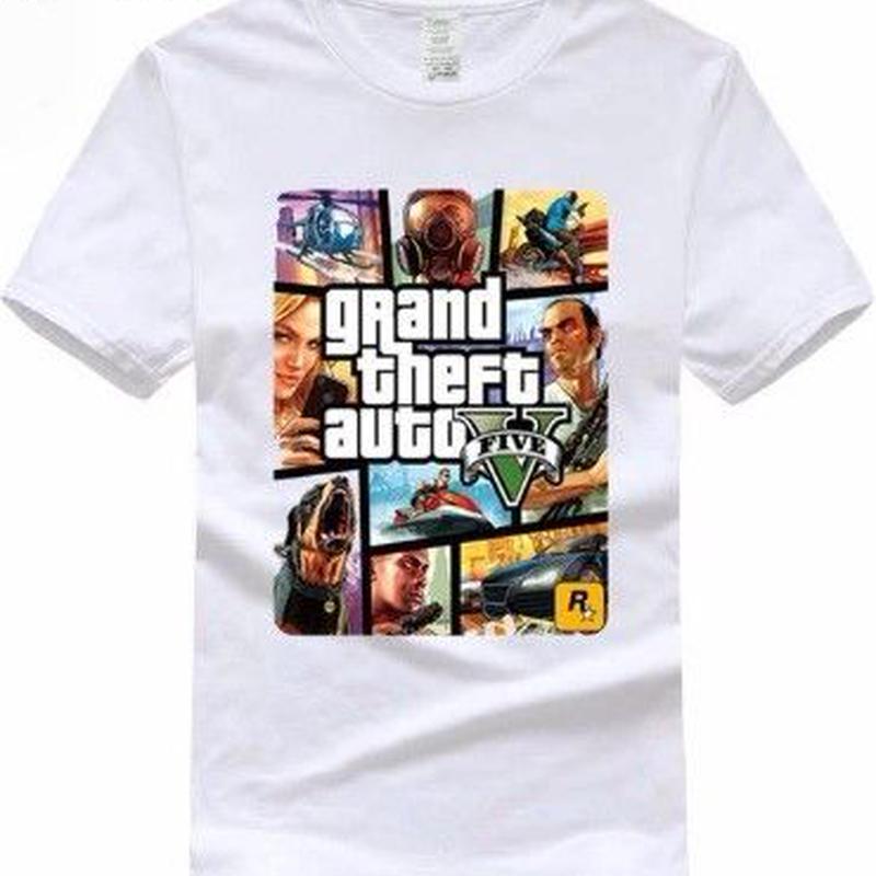 グランド・セフト・オートV デザイン Tシャツ  ユニセックス ゲームグッズ Grand Theft Auto V