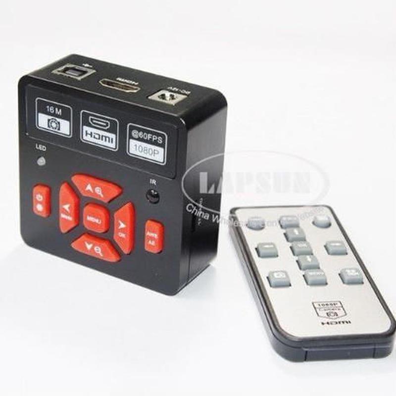 cマウント 顕微鏡 ビデオ カメラ + リモート 制御 16mp フル hd 1080 p 60fps hdmi usb HD出力