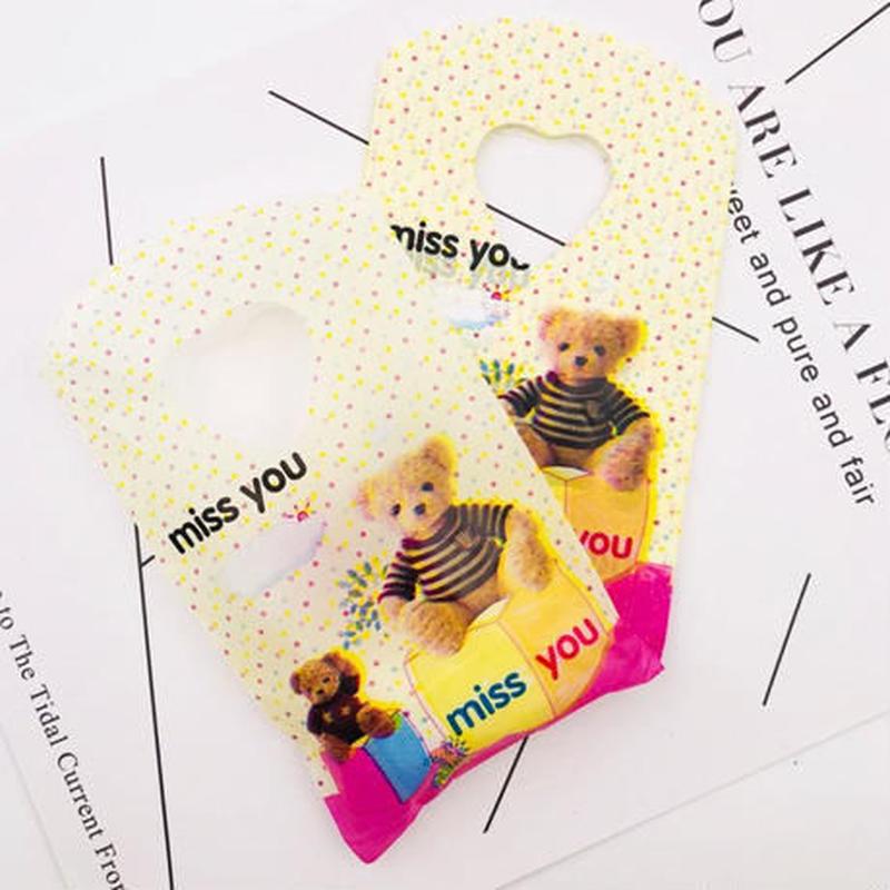 新品送料込 ギフトバッグ 手提げ袋 50枚セット 9×15cm テディベア バレンタイン お誕生日会 結婚式 ラッピング プレゼント