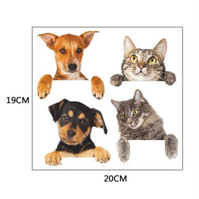 ウォールステッカー コンセント・スイッチパネル用 犬 猫 お洒落シール DIY キッチン 寝室 リビング トイレ 子供部屋