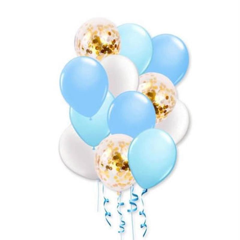 風船セット 12ピース 10インチ ピンク ブルー 飾り デコ 誕生日 結婚式 卒業 パーティ バルーン