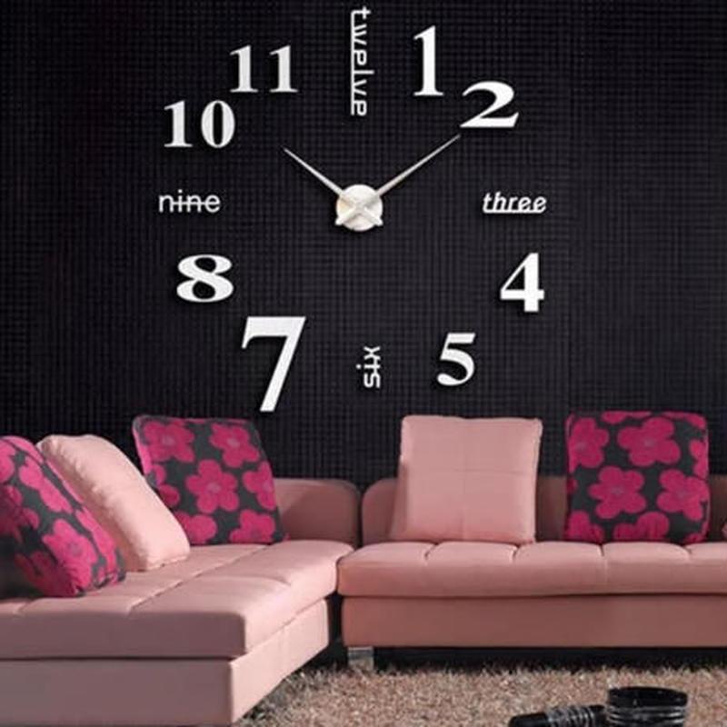 3Dウォールステッカー 壁時計デザイン 数字 英語 おしゃれ DIY 壁紙 キッチン 寝室 リビング トイレ 子供部屋