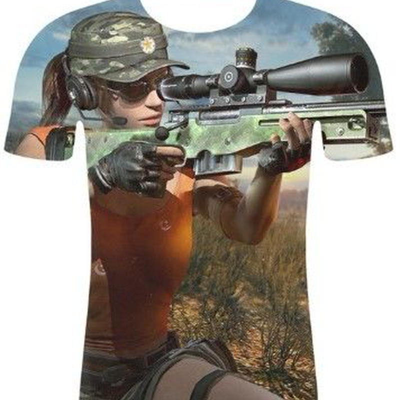 PUBG デザイン Tシャツ  ユニセックス ゲームグッズ PLAYERUNKNOWN'S BATTLEGROUNDS
