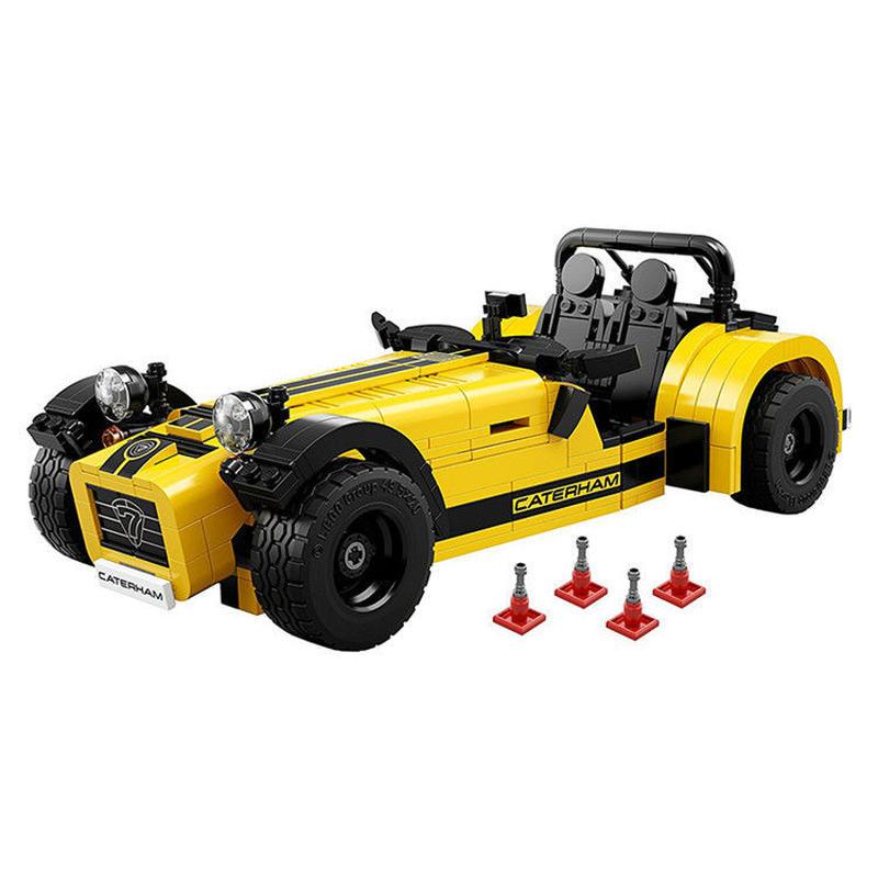 LEGO 21307 レゴ アイデア 互換 ケータハム セブン 黄 caterham 620R LEPIN 21008 スーパーカー スポーツカー