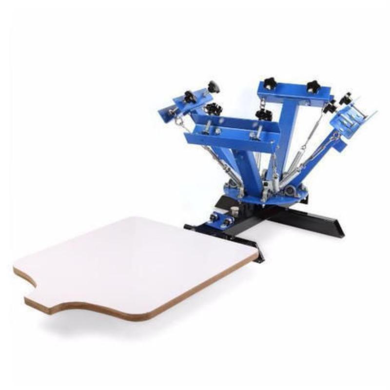 高性能 シルクスクリーン 4色印刷 卓上型 板 印刷キット アイロンプリント Tシャツ DIY 自作 工芸 ハンドクラフト 家庭用 業務用