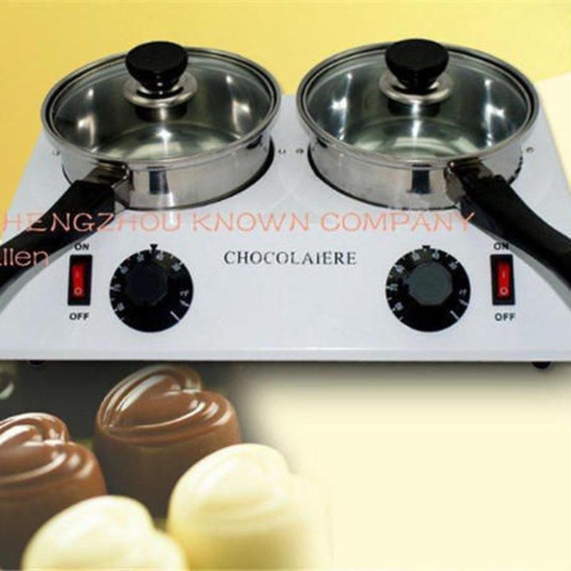 バレンタイン チョコレート プロ・テンパリング マシーン 自動温度調整 2口 メルティングポット