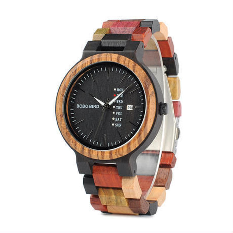 【BOBO BIRD】ユニセックス 木製腕時計 カラフル【自然に優しい天然木】