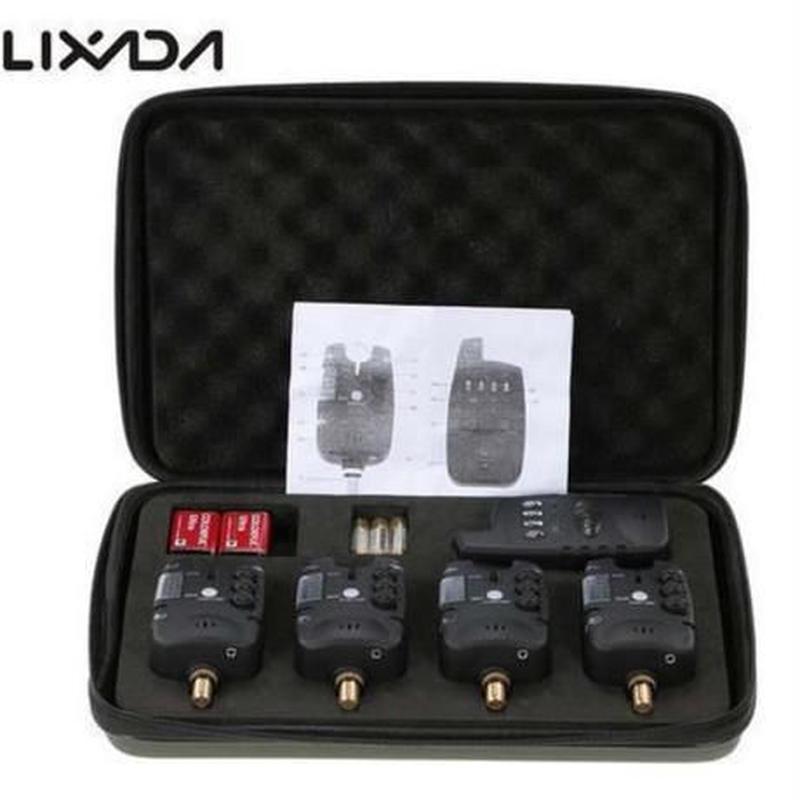 LIXADA 新しいデジタル バイトアラーム セット ワイヤレス 釣り バイトアラーム +1 レシーバーケース LED 鯉釣り