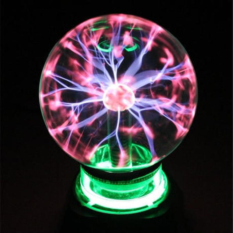 プラズマボール サンダーボール タッチセンシティブランプ 放電球 科学玩具 雷ボール 静電 マジックボール 装飾品 インテリア 8インチ