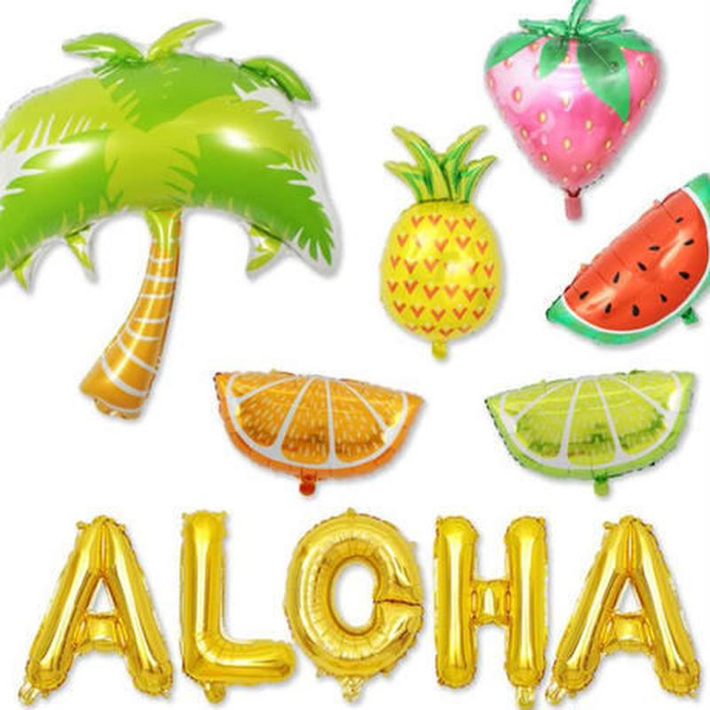 おしゃれ風船 ハワイアンセット 常夏 飾り デコ 誕生日 結婚式 イベント パーティ ふうせん バルーン ヘリウム