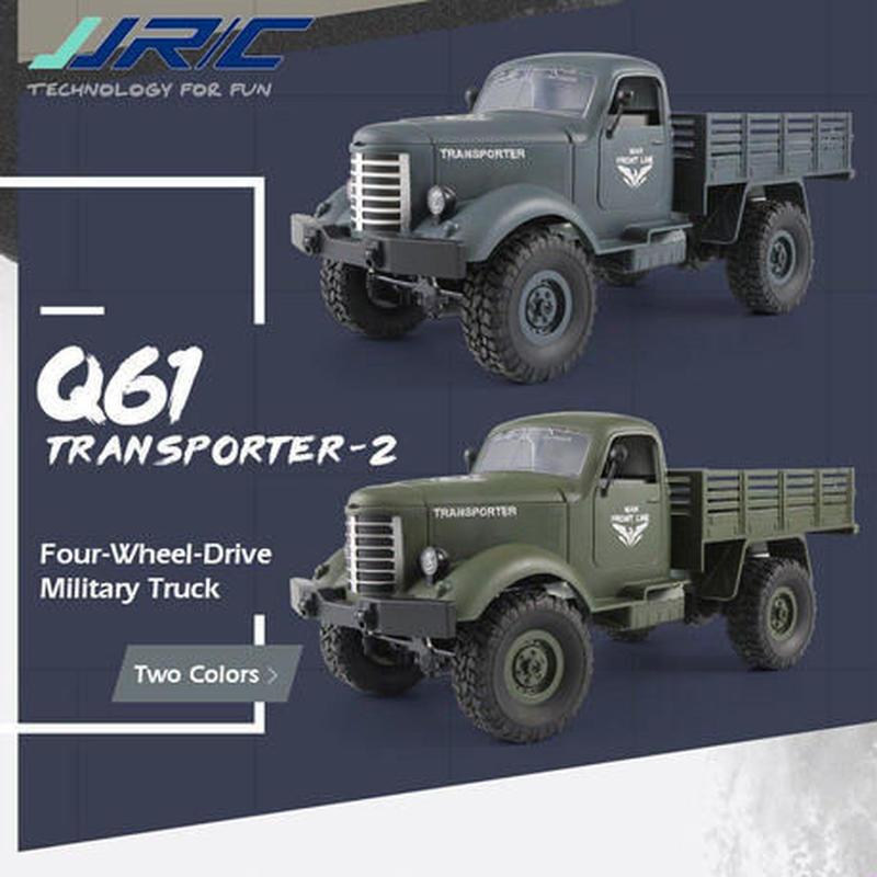 ラジコン オフロード 4WD 軍用トランククローラー JJRC Q61 1/16