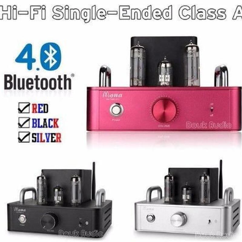 3カラー展開 Douk Audio 最新 6P14(EL84)真空管アンプBluetooth 4.0ステレオシングルエンドクラスAパワーアンプ