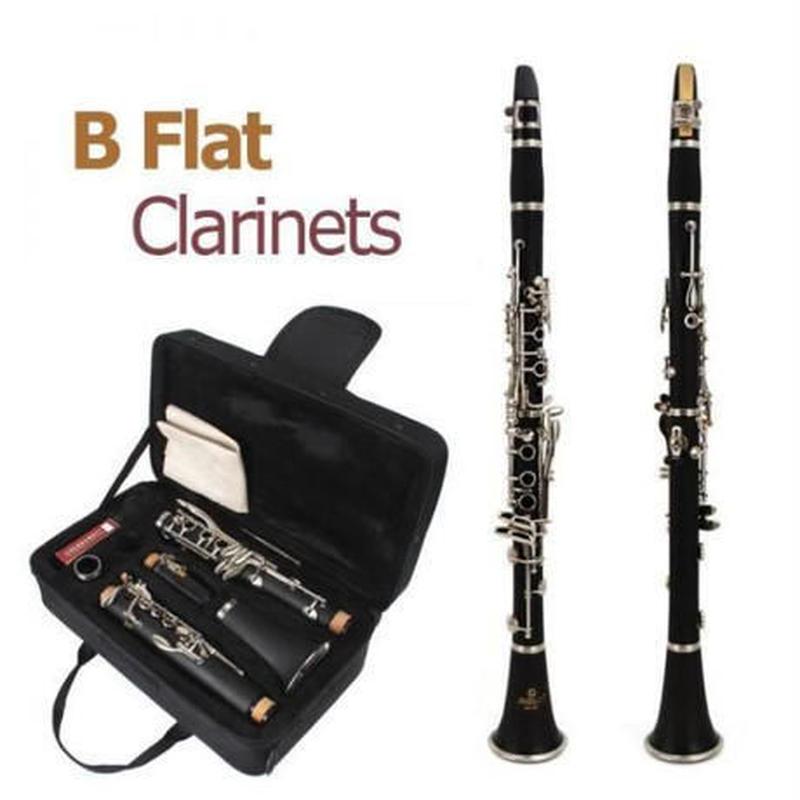 クラリネット B♭キー 木管 本体 初心者セット ドライバー ケース ソプラノ 高品質 黒 吹奏楽