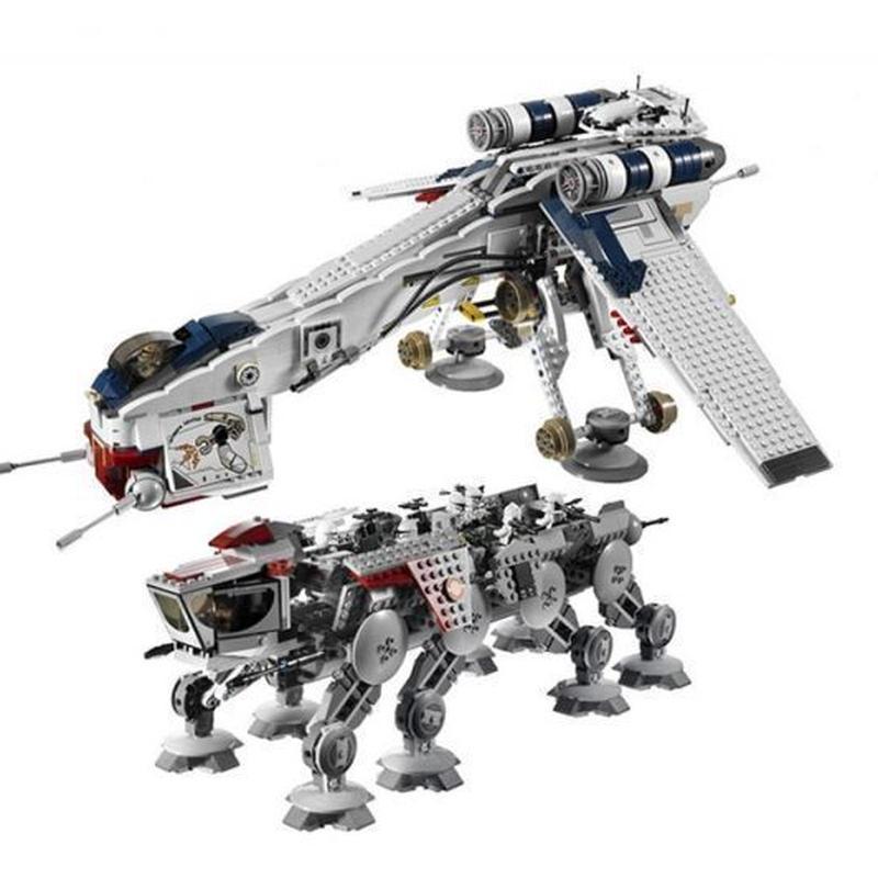 LEGO レゴ 10195 互換 スターウォーズ風 AT-OT ウォーカー搭載 リパブリック・ドロップシップ ミニフィグ付き LEPIN 05053