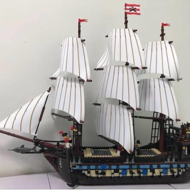 インペリアルフラッグシップ パイレーツ 海賊船 ブロックおもちゃ 10210相当 豪華帆船 LEGO互換 レゴ互換