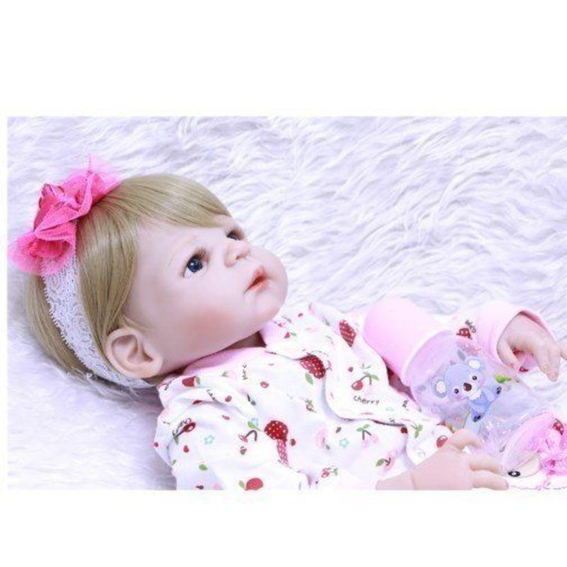 リボーンドール 赤ちゃん人形 プリンセスガール フルボディ柔らかいシリコーン 約22インチ 約55センチ