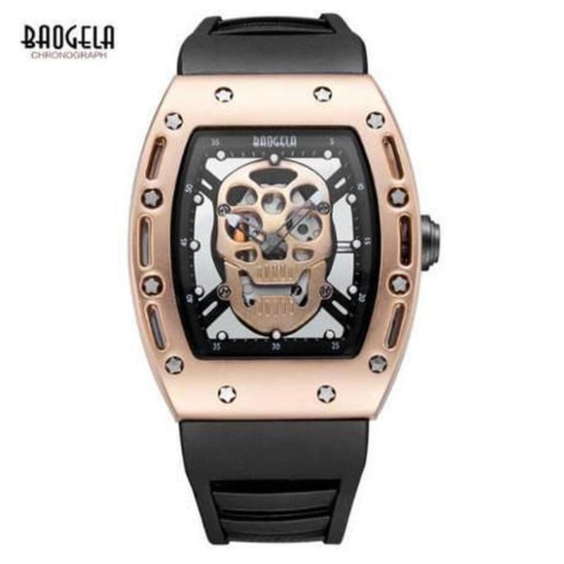 海外人気上昇中ブランド Baogela スカル 腕時計【4タイプより選択】