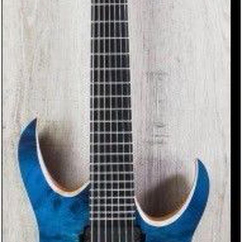 エレキギター カスタムブルー 7弦