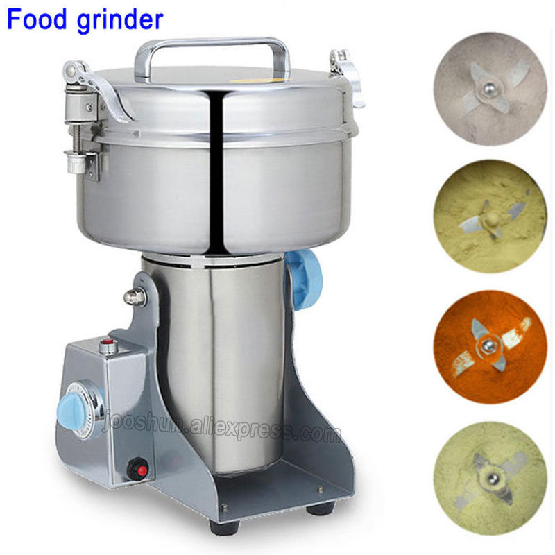 大容量 2000g スイングタイプ 穀類ミル ハイスピード 乾燥食品製粉器 微粉砕機 家庭用穀物製粉機 生薬超微粉