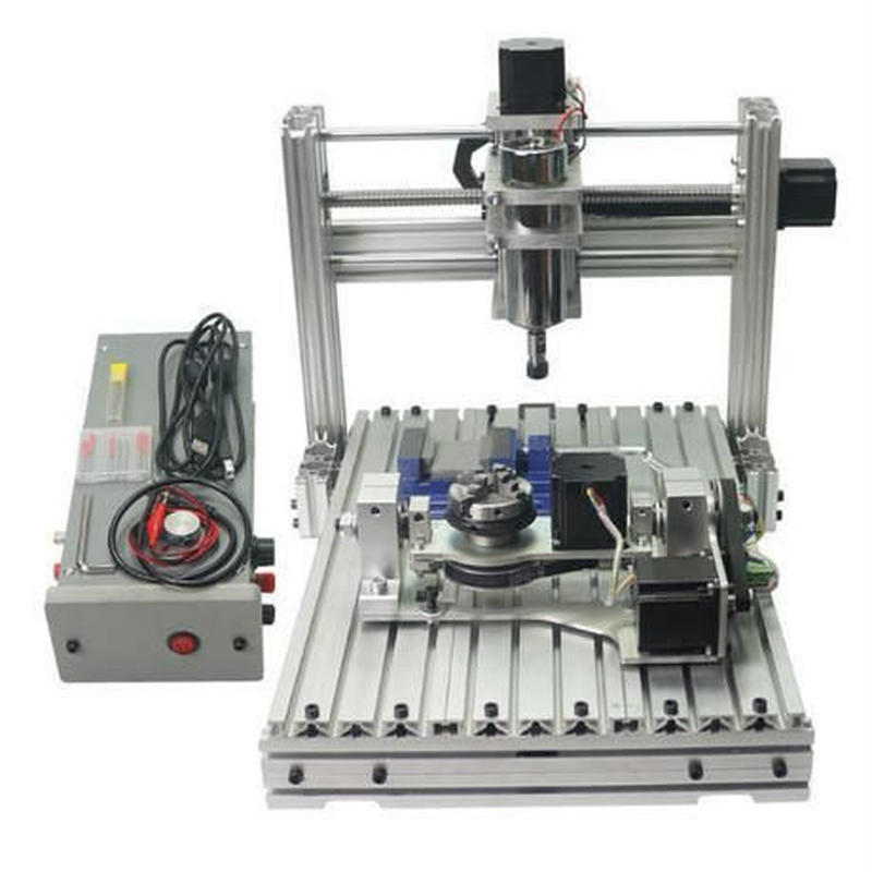 CNC3040 5軸 フライス ルーター DIY USBポート ER11 ボールねじ