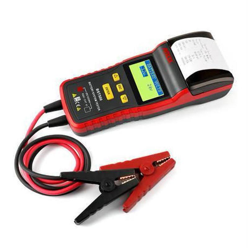 ANCEL BST500 12V & 24V 車のバッテリーテスター 自動車診断ツール(サーマルプリンター内蔵)