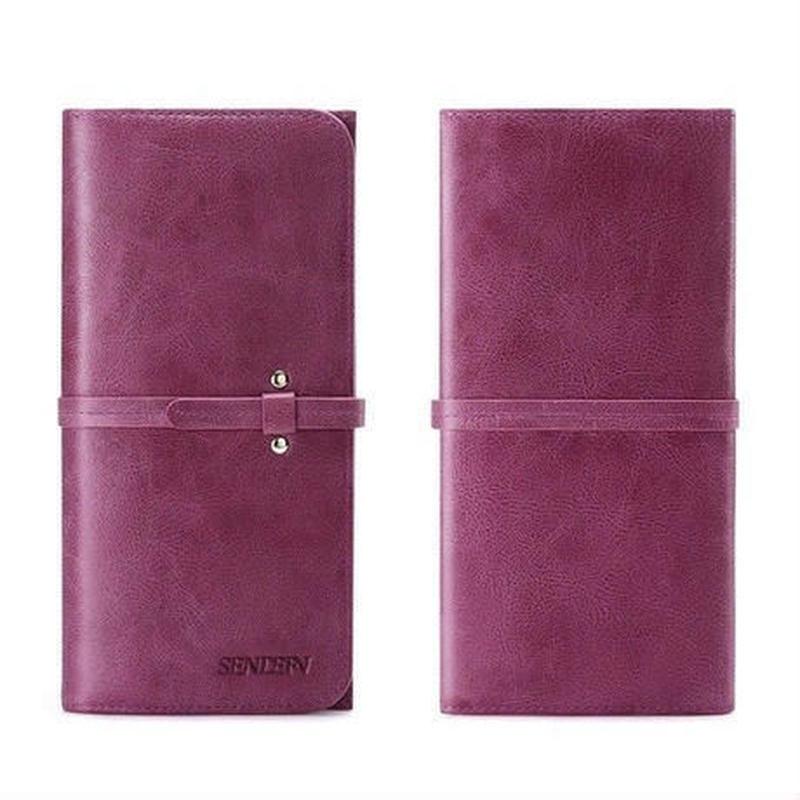 sendefn 2色展開 本革 薄型長財布