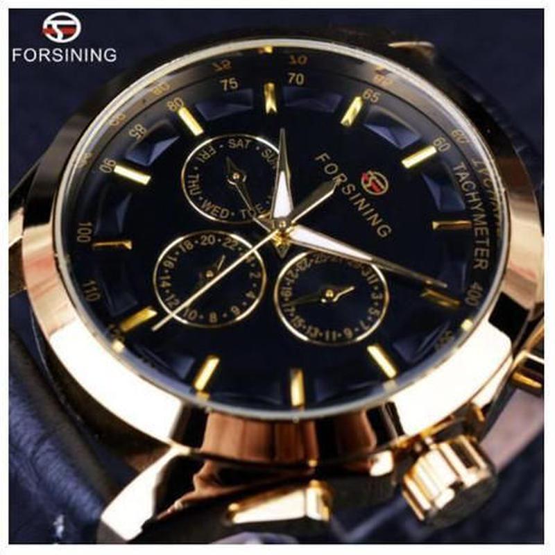 海外ブランド 腕時計 自動巻き スケルトン メンズ機械式腕時計 高級ブランド レザーベルト【4色から選択】