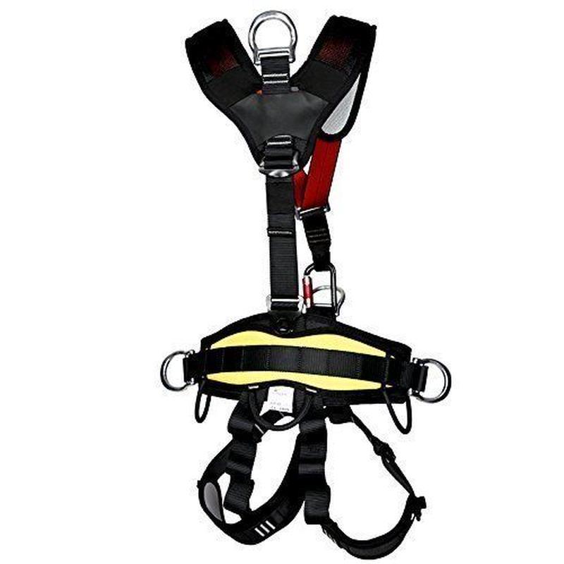アウトドア クライミング 登山降下 安全帯ベルト バストベルトに座っ登山ハーネス座席 高所作業保護 懸垂下降アウト