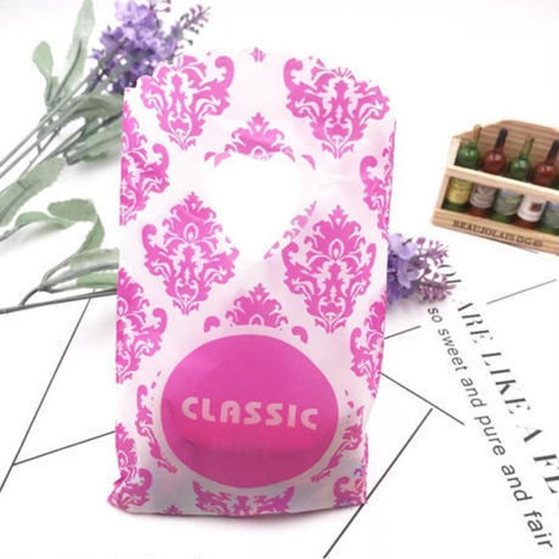 新品送料込 ギフトバッグ 手提げ袋 50枚セット ピンク ブルー レッド バレンタイン お誕生日会 結婚式 ラッピング プレゼント