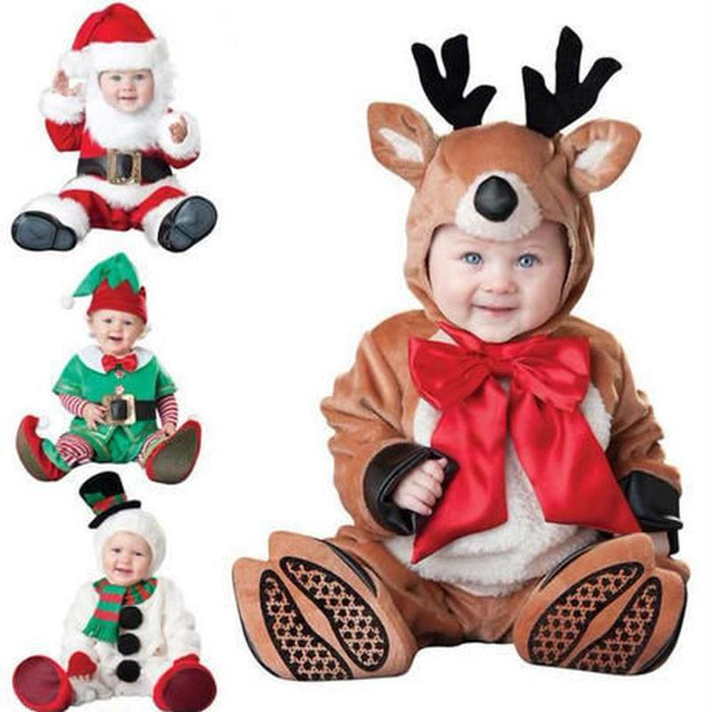 子供用 クリスマス コスプレ 衣装 サンタトナカイ 雪だるま 妖精 4種類 可愛い クリスマスパーティー