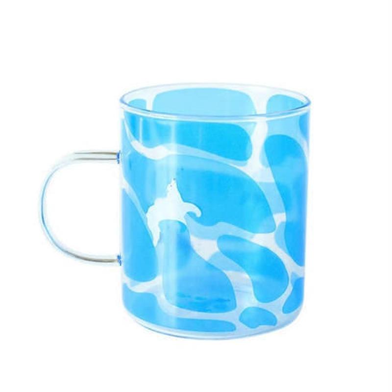 新品送料込 コップ 350ml 耐熱ガラス マグカップ グラス シャチ 水族館デザイン お茶会・女子会に おしゃれ食器 贈り物