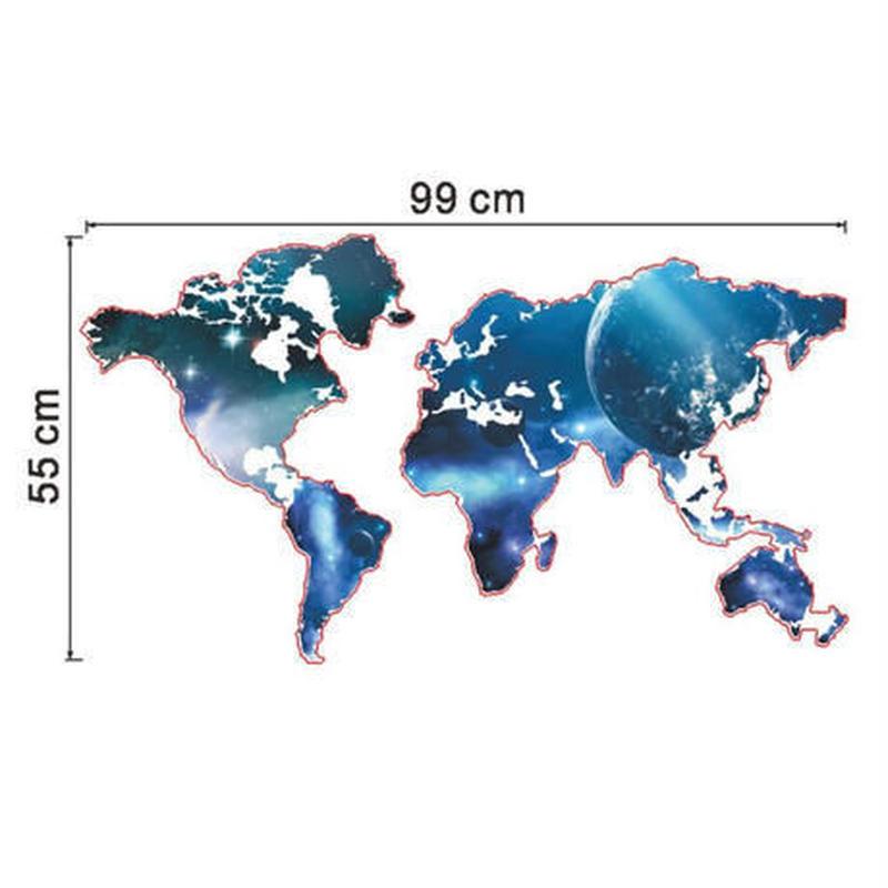 ウォールステッカー 世界地図 夜空 銀河 地球 お洒落シール DIY キッチン 寝室 リビング トイレ 子供部屋